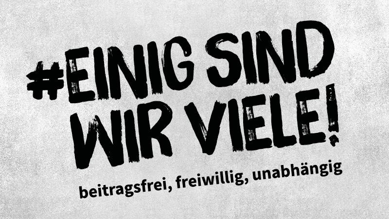 VdPB Kampagnenbild: Einig sind wir viele!